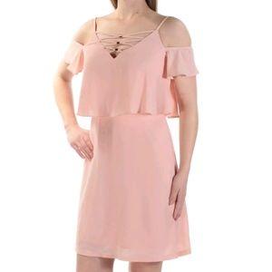 Jessica Simpson Pink Cold Shoulder Dress